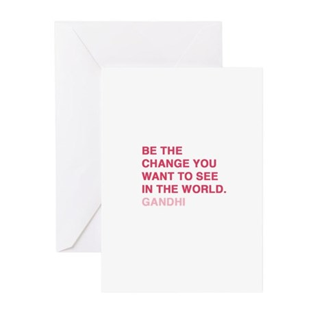 gandhi quotes Greeting Cards (Pk of 10)