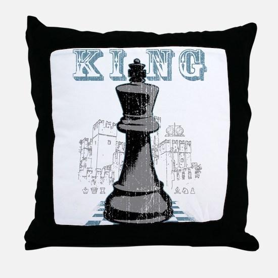 Black King Chess Mate Throw Pillow