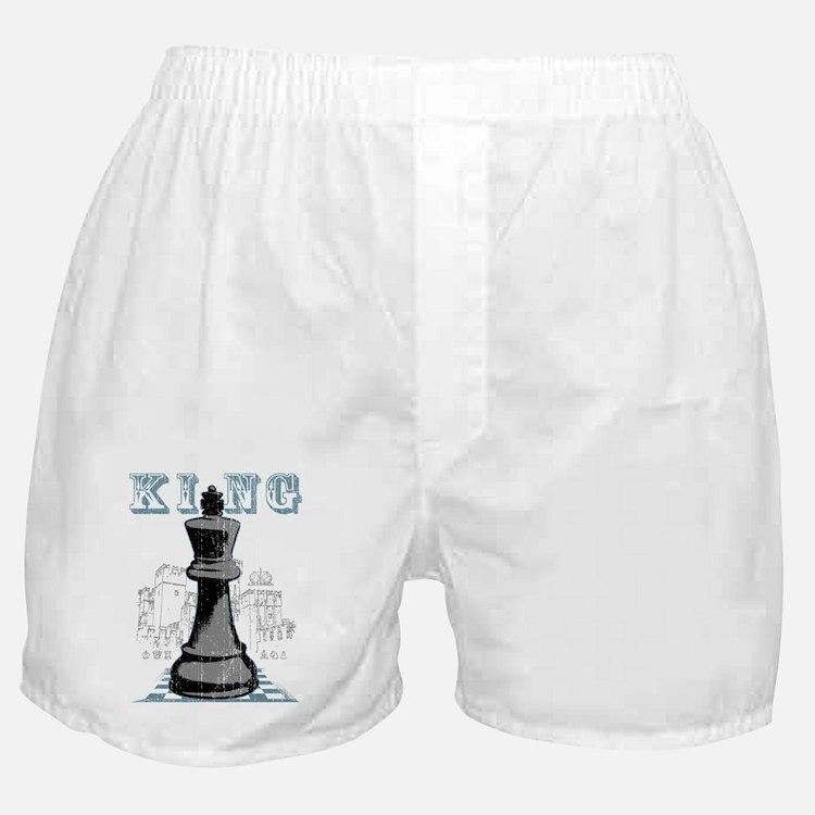 Black King Chess Mate Boxer Shorts