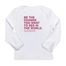 gandhi quotes Long Sleeve Infant T-Shirt