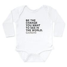 gandhi quotes Long Sleeve Infant Bodysuit