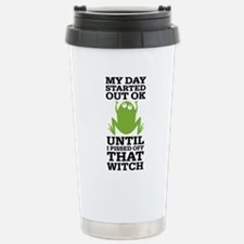 Funny Frog Mean Witch Travel Mug