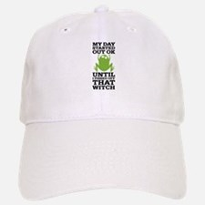 Funny Frog Mean Witch Baseball Baseball Cap