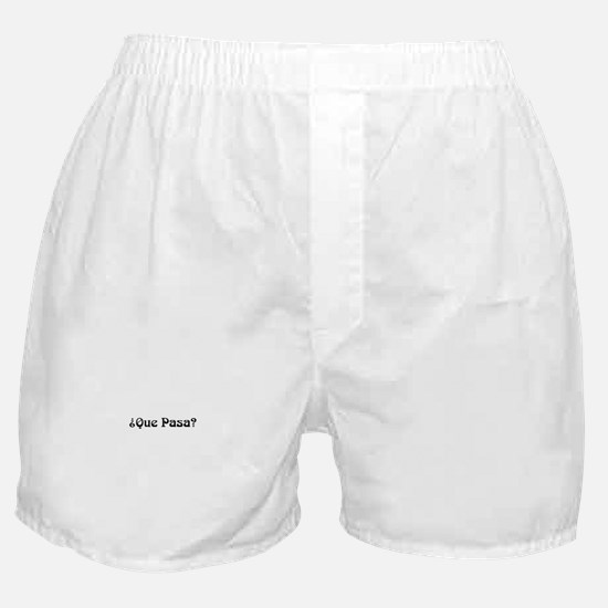 Cute Que pasa Boxer Shorts