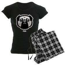 Pug Icon [b/w] Pajamas