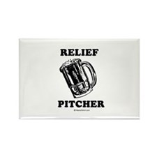 Relief pitcher - Rectangle Magnet (10 pack)