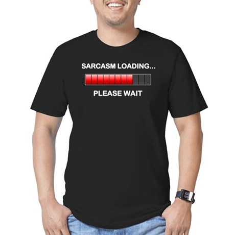 Sarcasm Loading Men's Fitted T-Shirt (dark)