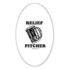 Relief pitcher - Oval Decal