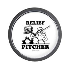 Relief pitcher -  Wall Clock