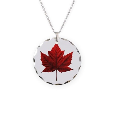 Canada Necklace Canada Souvenir Circle Charm