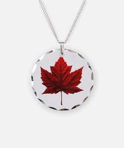 Canada Necklace Canada Souvenir Circle Charm