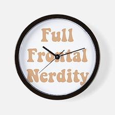 Full Frontal Nerdity Wall Clock