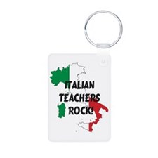 Cute Italian flag Aluminum Photo Keychain