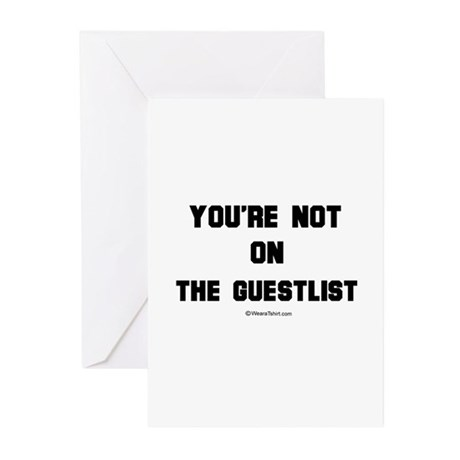 You're not on the guestlist - Greeting Cards (Pac