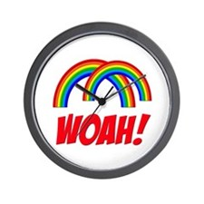 Double Rainbow WOAH! Wall Clock
