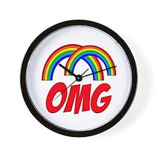 Double Rainbow OMG Wall Clock