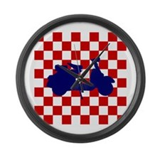 Mod Scooter Large Wall Clock