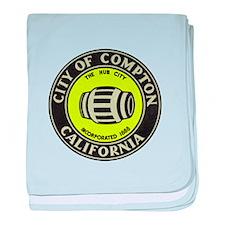 Compton City Seal baby blanket