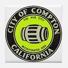 Compton City Seal Tile Coaster