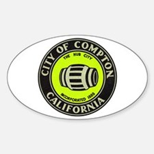 Compton City Seal Sticker (Oval)