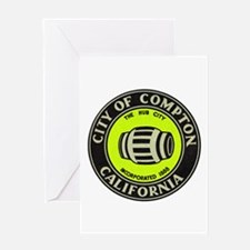 Compton City Seal Greeting Card