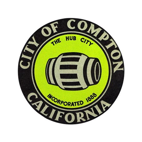 """Compton City Seal 3.5"""" Button (100 pack)"""
