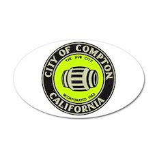 Compton City Seal 22x14 Oval Wall Peel