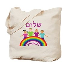 Rainbow Pink Shalom Tote Bag