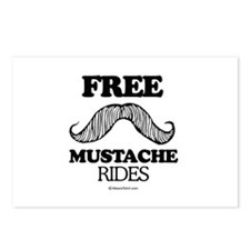 Free Mustache Rides -  Postcards (Package of 8)
