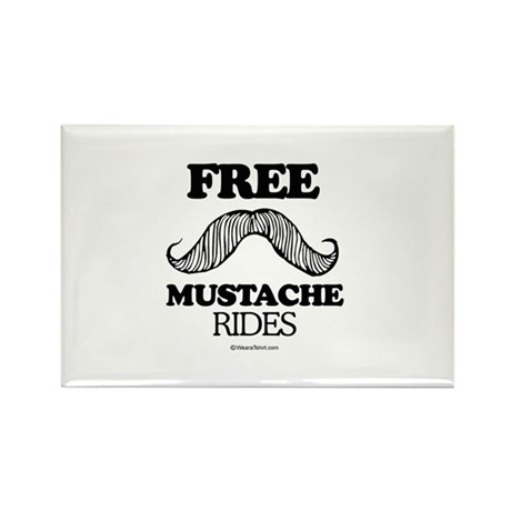 Free Mustache Rides - Rectangle Magnet (10 pack)