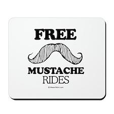 Free Mustache Rides -  Mousepad