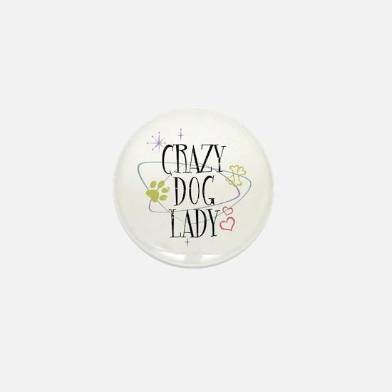 Crazy Dog Lady Mini Button