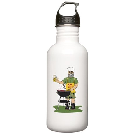 Kiss the Cook Stainless Water Bottle 1.0L
