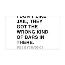 bukowski quote 22x14 Wall Peel