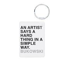 bukowski quote Keychains