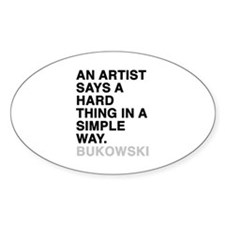 bukowski quote Decal