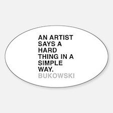 bukowski quote Decal