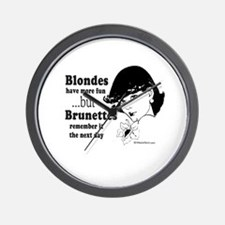 Blondes have more fun -  Wall Clock