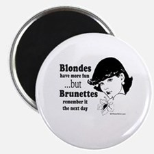 """Blondes have more fun - 2.25"""" Magnet (100 pack)"""