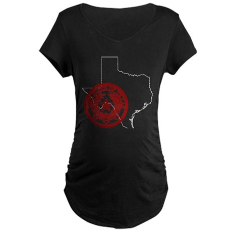 Texas Red Seal Maternity Dark T-Shirt