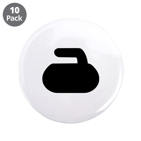"""Curling 3.5"""" Button (10 pack)"""