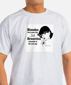 Blondes have more fun -  Ash Grey T-Shirt