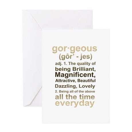 Gorgeous Gold Greeting Card