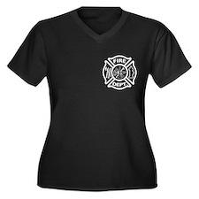 Fire Department / Fire Rescue Logo Women's Plus Si