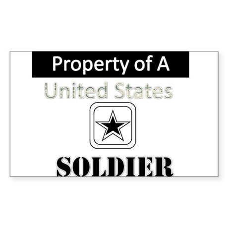 Property of A Sticker (Rectangle)