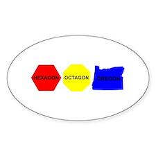 Hexagon, Octagon, Oregon Decal