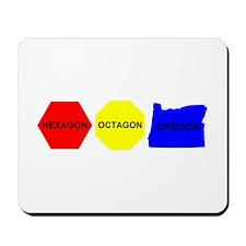 Hexagon, Octagon, Oregon Mousepad