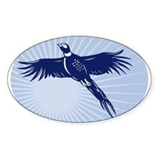 Pheasant bird flying up Decal