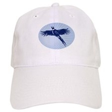 Pheasant bird flying up Baseball Cap