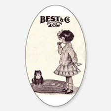 Vintage Girl and Kitty Decal